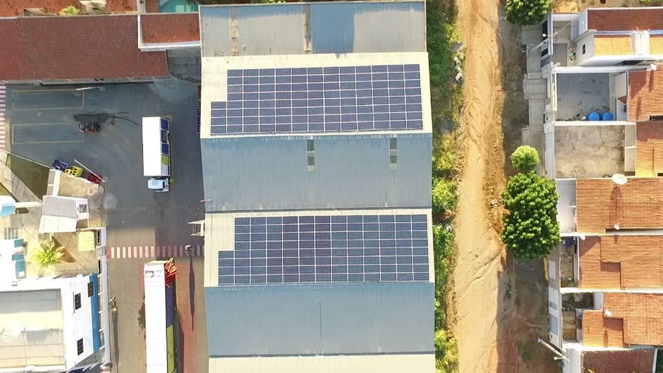 Energia solar em indústrias