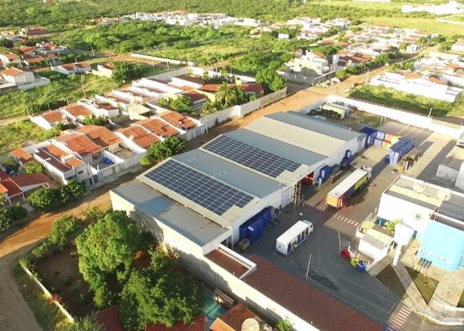 Energia solar em empresas. Foto: Cliente DISBECOL