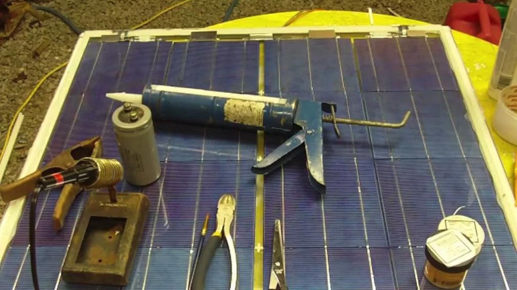 Kit de placa solar caseiro