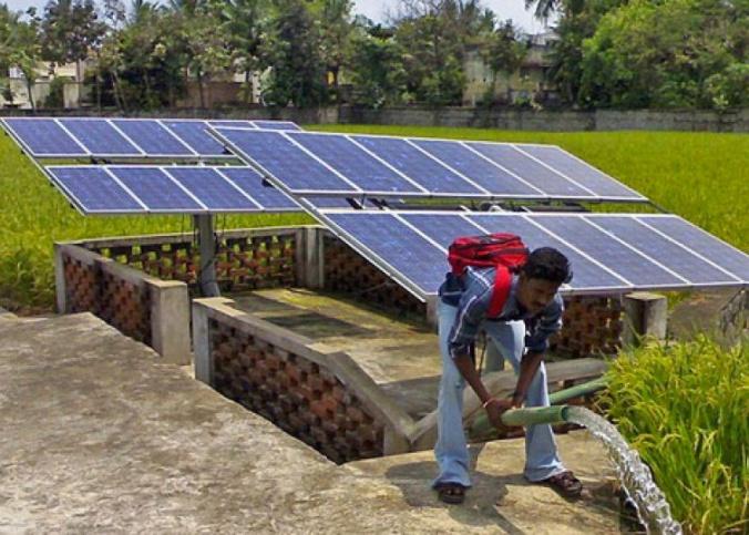 Sistema de irrigação com energia solar