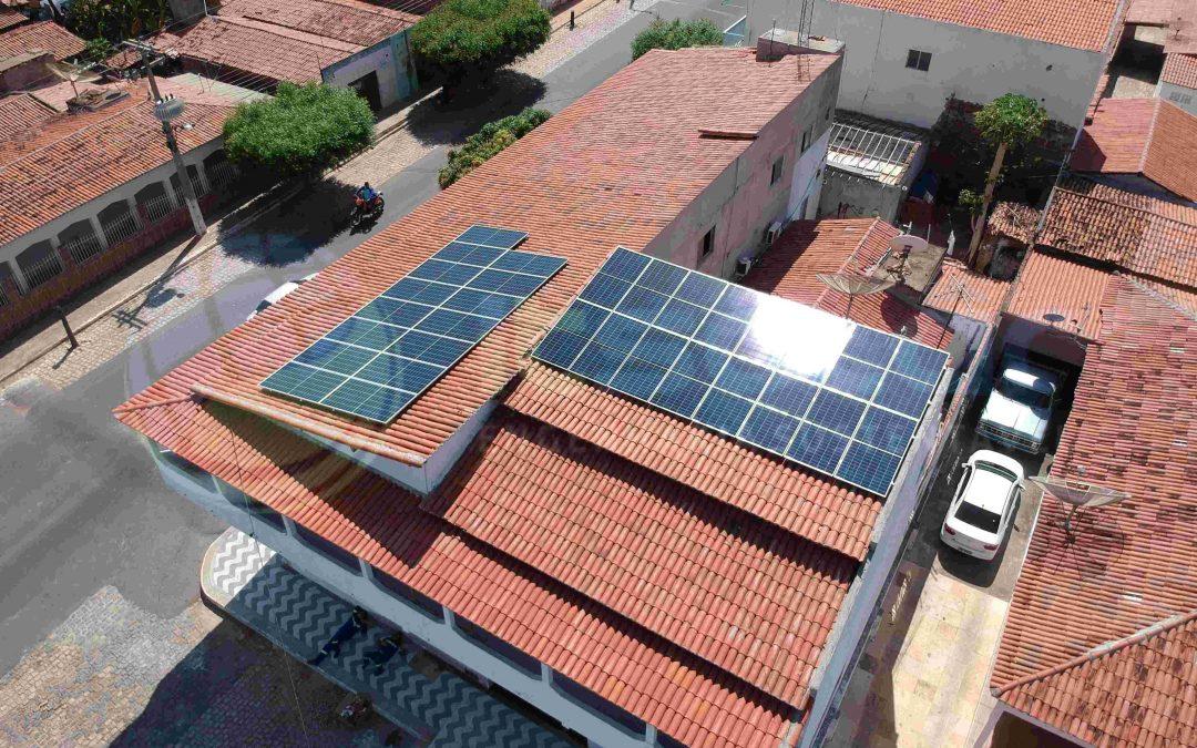 Projeto de energia solar em casas Carnaubais/RN
